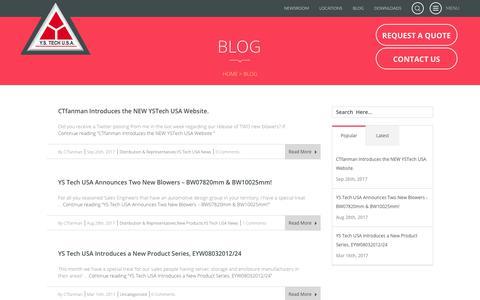 Screenshot of Blog ystechusa.com - Blog | YS Tech USA - captured Feb. 23, 2018