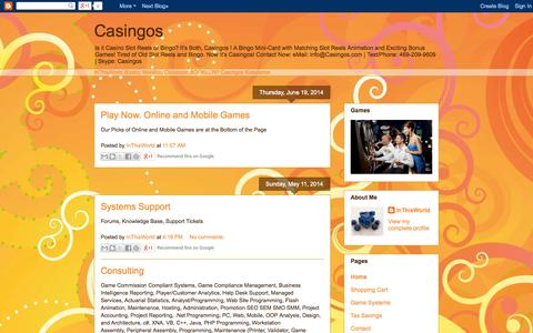 Screenshot of Home Page casingos.blogspot.com - Casingos - captured Oct. 24, 2014