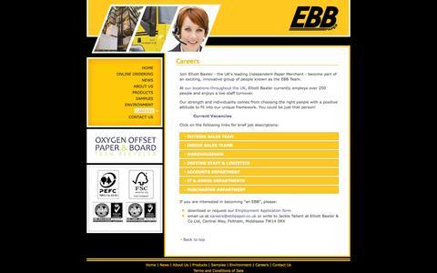 Screenshot of Jobs Page ebbpaper.co.uk - Elliott Baxter and Co Ltd - captured Oct. 2, 2014