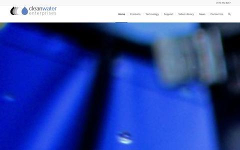 Screenshot of Home Page cleanwaterenterprises.com - Homepage - Clean Water Enterprises - captured Jan. 28, 2016