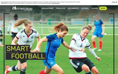 Screenshot of Home Page futbolsalou.com - Complex Esportiu Futbol Salou - captured Feb. 25, 2018