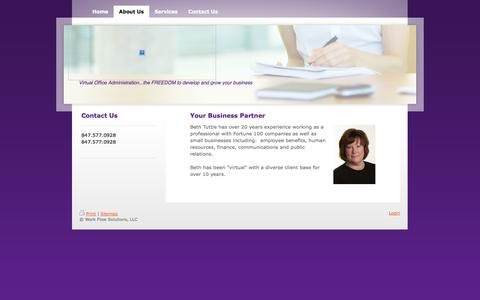 Screenshot of About Page work-flowsolutions.com - Work Flow Solutions - About Us - captured Oct. 26, 2014