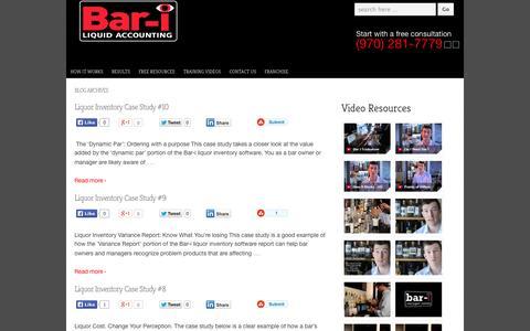 Screenshot of Case Studies Page bar-i.com - Bar Liquor Inventory Case Studies   Bar - i - captured Oct. 5, 2014