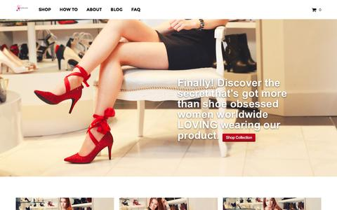 Screenshot of Home Page ellashoescarf.com - Ella Shoe Scarf | Elegant Shoes Accessories Scarfs handbags - captured March 3, 2016