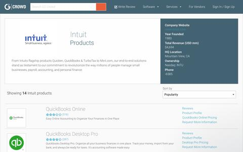 Intuit Products | G2 Crowd