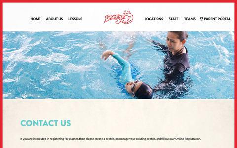 Screenshot of Contact Page imagineswimming.com - Contact us - Imagine Swimming - captured Oct. 11, 2018