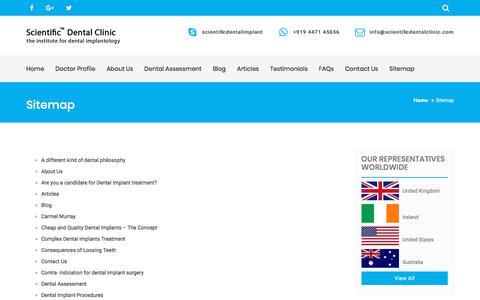 Screenshot of Site Map Page scientificdentalclinic.com - Sitemap | Scientific Dental Clinic - captured Jan. 20, 2020