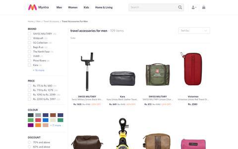 Screenshot of myntra.com - Men's Travel Accessories - Buy Travel Accessories for Men Online in India - captured June 10, 2017