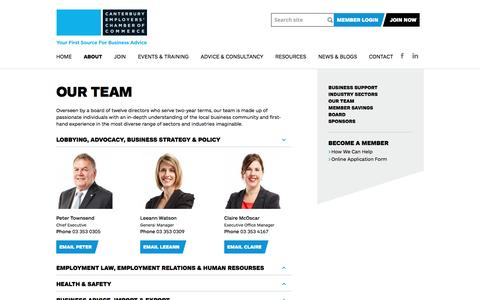 Screenshot of Team Page cecc.org.nz - CECC Team | Business Advice & Training » Canterbury Employers' Chamber of Commerce - captured Oct. 20, 2016