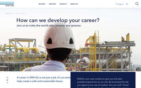 Screenshot of Jobs Page dnvgl.com - Career development - DNV GL - captured June 4, 2019