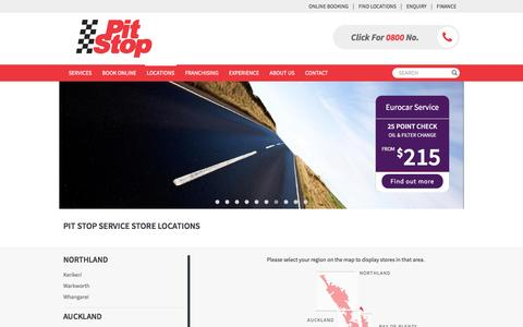 Screenshot of Locations Page pitstop.co.nz - See Our Nationwide Locations & Find Nearest | Pit Stop - captured Nov. 18, 2016