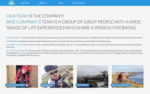 Screenshot of Team Page bikecompany.is - BIKE COMPANY TEAM IS THE COMPANY - bikecompany.is - captured Oct. 10, 2017