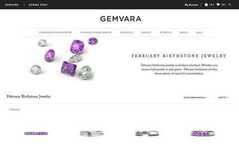 Screenshot of gemvara.com - February Birthstone Jewelry   Gemvara - captured Sept. 8, 2016