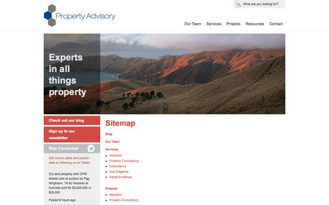 Screenshot of Site Map Page propertyadvisory.co.nz - Sitemap   | Property Advisory - captured Oct. 3, 2014