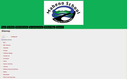 Screenshot of Site Map Page google.com - Sitemap - Maheno School - captured March 14, 2017