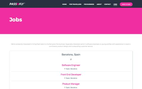 Screenshot of Jobs Page passnfly.com - Passnfly - Jobs - captured May 2, 2017