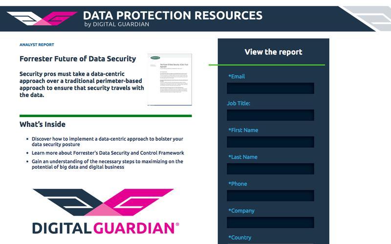 Forrester Future of Data Security | Get Data Security Best Practices with Forrester's Data Security Framework