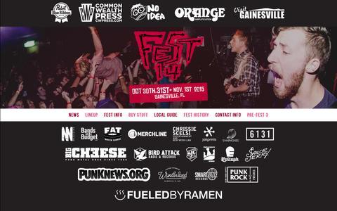 Screenshot of FAQ Page thefestfl.com - The Fest 14 » FAQ - captured Feb. 18, 2016