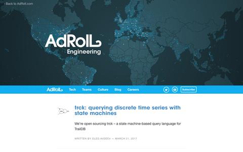 Screenshot of Blog adroll.com - AdRoll — Engineering - captured May 8, 2017