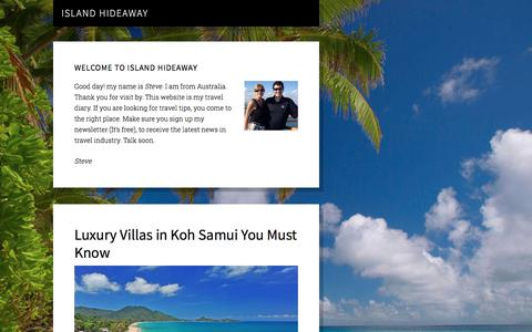 Screenshot of Home Page island-hideaway.com - Island Travel Blogs, Photos and Forum - Island-Hideaway.com – Just another WordPress site - captured Nov. 12, 2019