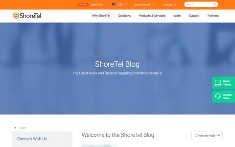 Screenshot of Jobs Page shoretel.com - Blog | ShoreTel - captured Jan. 7, 2017