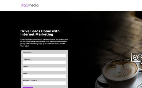 Screenshot of Landing Page absoluteperfectionmedia.com - Get Your FREE Internet Marketing Constulation - captured Nov. 5, 2015