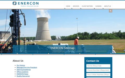Screenshot of Site Map Page enercon.com - ENERCON Sitemap - captured Nov. 8, 2016