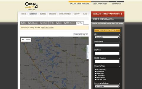Screenshot of Maps & Directions Page century21vista.com - All Property Types in All Cities - captured Dec. 8, 2015