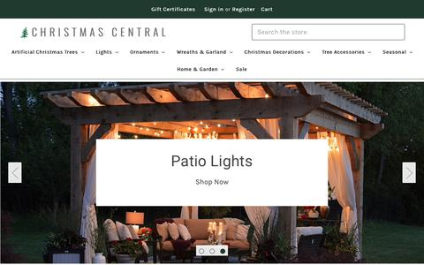 Screenshot of Home Page christmascentral.com - Artificial Christmas Trees, Lights & Home Decor - Christmas Central - captured July 7, 2019