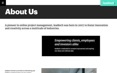 Screenshot of About Page leadtech.com - About us | Leadtech; - captured July 4, 2018