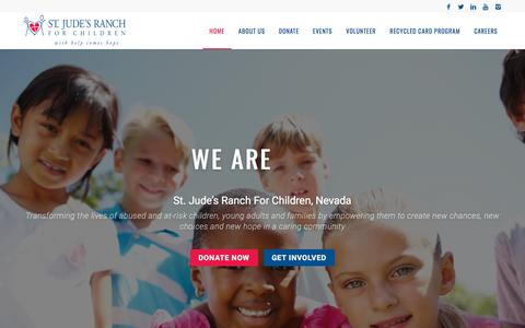 Screenshot of Home Page stjudesranch.org - St. Jude's Ranch For Children, Nevada – Transforming the lives of abused and at-risk children, young adults and families by empowering them to create new chances, new choices and new hope in a caring community - captured Sept. 21, 2018