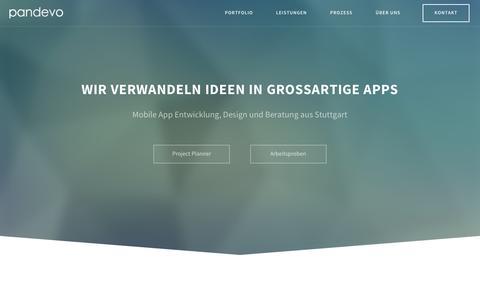 Screenshot of Home Page pandevo.com - Pandevo � App Entwicklung aus Stuttgart - captured Dec. 7, 2015