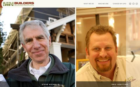 Screenshot of About Page mnbuild.com - Who We Are | MN Builders | Construction, Custom Cabinetry and Millwork | Residential and Commercial | San Francisco Bay Area - captured Oct. 26, 2014