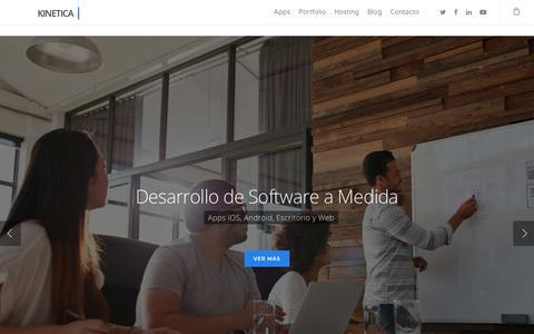 Screenshot of Home Page kinetica.mobi - Desarrollo de Apps - Kinética Mobile - captured Sept. 25, 2018