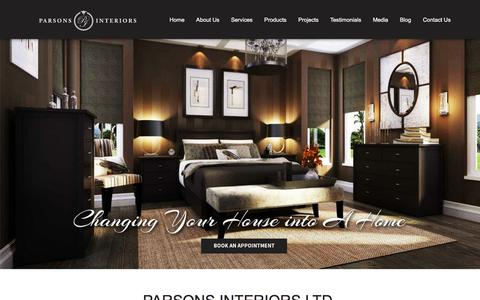 Screenshot of Home Page parsonsinteriors.com - Parsons Interiors Ltd | Interior Design in Oakville ON, Mississauga - captured Oct. 16, 2017