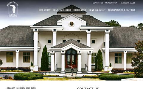 Screenshot of Contact Page clubcorp.com - Contact Us | Atlanta National Golf Club - captured Nov. 6, 2018