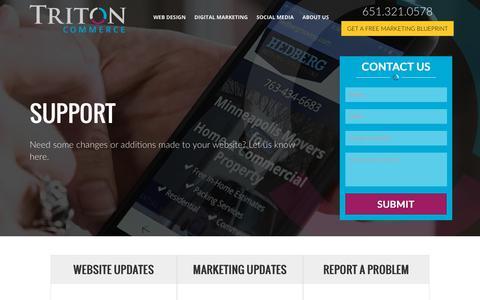 Screenshot of Support Page tritoncommerce.com - Support Directory - Triton Commerce | Minneapolis Digital Marketing - captured Nov. 13, 2017