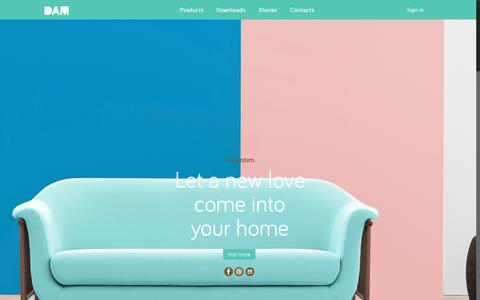 Screenshot of Home Page dam.pt - DAM - Furniture and Lighting Brand - captured July 31, 2018