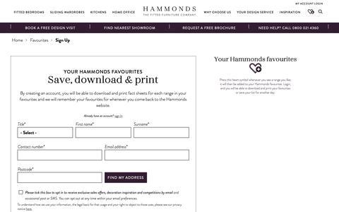 Screenshot of Signup Page hammonds-uk.com - Sign Up | Hammonds - captured Sept. 27, 2018