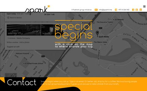Screenshot of Contact Page sparkit.me - Contact - SparkSpark - captured Feb. 27, 2016