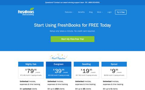 Screenshot of Pricing Page freshbooks.com - Pricing | FreshBooks - captured Dec. 8, 2015