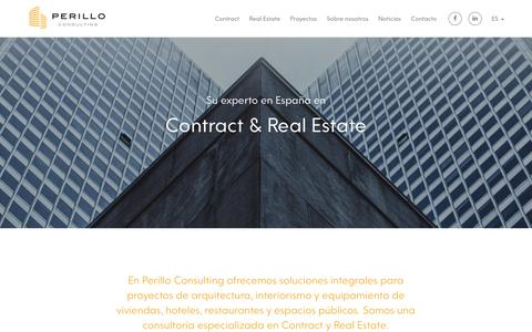 Screenshot of Home Page perilloconsulting.com - Perillo Consulting - captured May 16, 2017