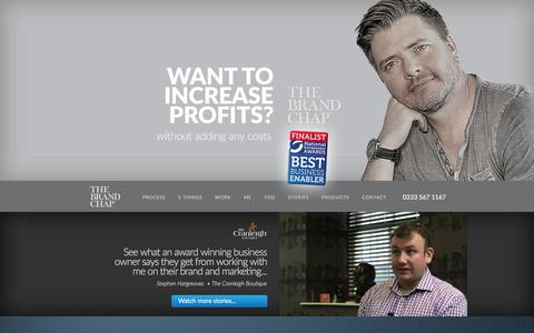 Screenshot of Home Page thebrandchap.com - The Brand Chap Đ Business Growth | Brand and Marketing - captured Jan. 13, 2016