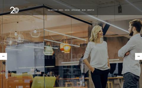 Screenshot of Home Page 2o.com - Digital Marketing Agency   Online Digital Marketing Services   2o.com - captured Sept. 21, 2018