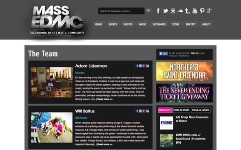 Screenshot of Team Page massedmc.com - Staff  - MASS EDMC - captured Sept. 19, 2014