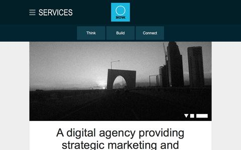 Screenshot of Services Page nowmedia.com.au - Services | NOW Digital Agency - captured March 2, 2016