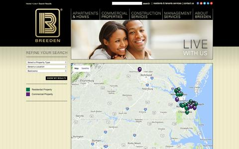 Screenshot of Maps & Directions Page thebreedencompany.com - Search Results - the Breeden Company - captured Aug. 14, 2016
