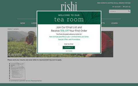 Careers with Rishi Organic Tea