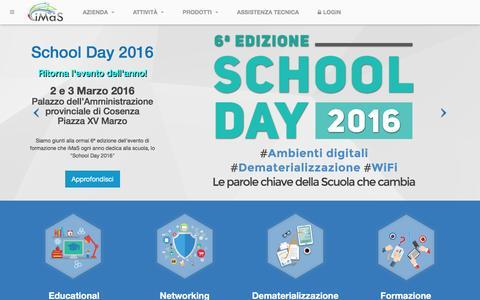Screenshot of Home Page imasweb.it - iMaS s.r.l. - Soluzioni digitali per la Scuola e la PA - captured Feb. 11, 2016