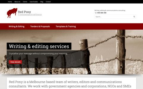 Screenshot of Case Studies Page redpony.com.au - Homepage | Red Pony Communications - captured Nov. 15, 2018